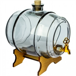 Beczułka na nalewki i inne napoje - Do Pełna - grafitowa - 5 litrów