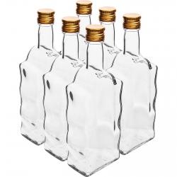 Butelka Klasztorna z zakrętką - biała - 500 ml - 6 szt.
