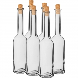 Butelki na nalewkę z korkami - 100 ml - 6 szt.