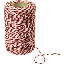 Nici wędliniarskie bawełniane, czerwono-białe - 100 g - 240 ⁰C