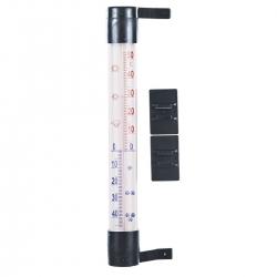 Termometr zewnętrzny antracytowy - 230 x 26 mm