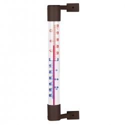 Termometr zewnętrzny brązowy - 190 x 18 mm