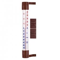 Termometr zewnętrzny brązowy - 230 x 26 mm