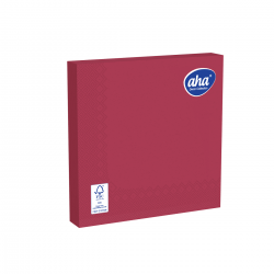 Serwetki papierowe - 33 x 33 cm - AHA - 100 szt. + 20 szt. GRATIS - bordowe