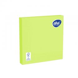Serwetki papierowe - 33 x 33 cm - AHA - 100 szt. + 20 szt. GRATIS - lemonkowe