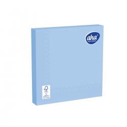 Serwetki papierowe - 33 x 33 cm - AHA - 100 szt. + 20 szt. GRATIS - niebieskie