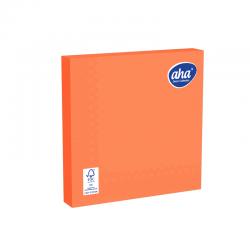Serwetki papierowe - 33 x 33 cm - AHA - 20 szt. - pomarańczowe