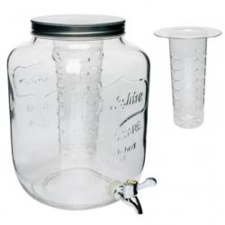 Słój Cytrynada z kranem i filtrem - biały - 7,6 l