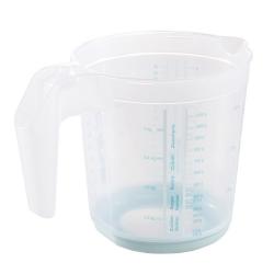 Kubek z miarką i funkcją antypoślizgową - Massimo - 1 litr - seledynowy