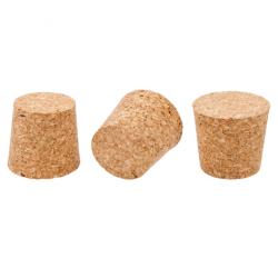 Korek naturalny stożkowy - aglomerowany - 45/37 mm