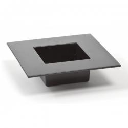 Ikebana kwadratowa - naczynie do kompozycji florystycznych - 19 cm - kolor czarny