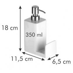 Dozownik płynu do naczyń z miejscem na gąbkę - ONLINE - 350 ml