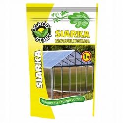 Siarka granulowana - do zakwaszania gleby i gazowania szklarni - 1 kg