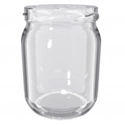 """Słoiki zakręcane szklane na miód - fi 82 - 540 ml z zakrętkami """"Słoiki miodu"""" - 32 szt."""