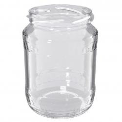 """Słoiki zakręcane szklane na miód - fi 82 - 720 ml z zakrętkami - """"Pszczoła na czarnym tle"""" - 8 szt."""