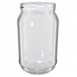 """Słoiki zakręcane szklane na miód - fi 82 - 900 ml z zakrętkami - """"Pszczoła na czarnym tle"""" - 120 szt."""