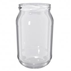 """Słoiki zakręcane szklane na miód - fi 82 - 900 ml z zakrętkami """"Słoiki miodu"""" - 8 szt."""