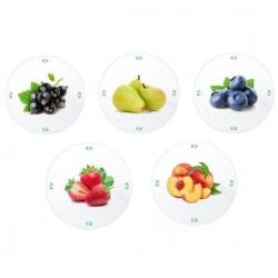 Słoiki zakręcane szklane na przetwory z owoców - fi 82 - 900 ml z zakrętkami owoce na białym tle - 120 szt.