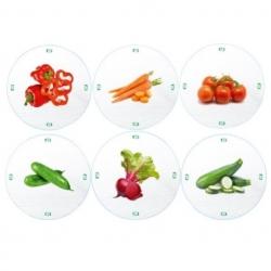Słoiki zakręcane szklane na przetwory z warzyw - fi 82 - 900 ml z zakrętkami warzywa na białym tle - 120 szt.