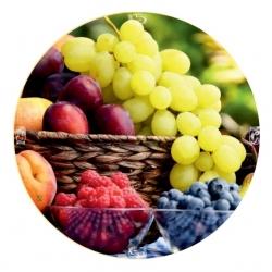 Zakrętka do słoików (gwint 6) - owoce w koszyku - śr. 82 mm