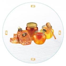 """Słoiki zakręcane szklane na miód - fi 82 - 900 ml z zakrętkami """"Słoiki miodu"""" - 32 szt."""