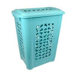 Kosz do bielizny - Per - 60 litrów - wodny niebieski