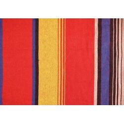 Hamak z płótna - 200 x 80 cm - z drewnianą rozpórką - czerwony