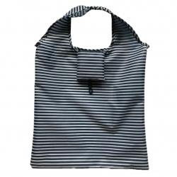 Składana torba na zakupy - 38 x 38 cm - paski marynarskie