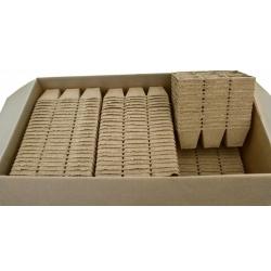 Kwadratowe doniczki torfowe - 8 x 8 cm - 6 sztuk