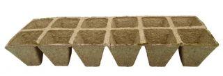 Kwadratowe doniczki torfowe 5 x 5 cm - 12 sztuk