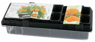 Miniszklarenka czarna 47 x 15 cm - 18 doniczek - druga miniszklarenka GRATIS