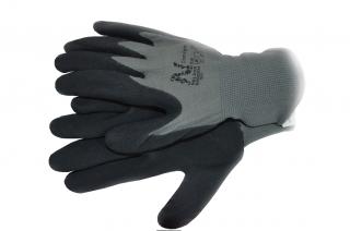 Rękawice ogrodnicze Comfort - szare - cienkie i gładkie