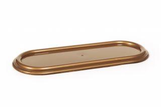 Podstawka pod znicze - zniczówka owalna - 44 cm - złoty kolor