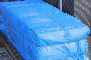 Plandeka - 4 x 8 m - niebieska