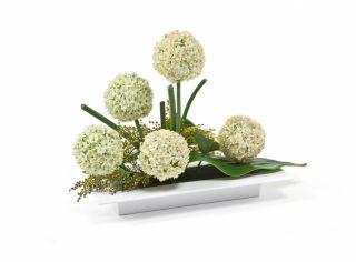 Ikebana prostokątna - naczynie do kompozycji florystycznych - 39 x 17 cm - kolor biały