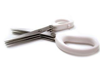 Herbs Cut - Białe nożyczki do ziół z potrójnym ostrzem