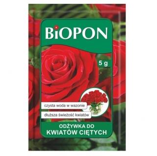 Odżywka do kwiatów ciętych w proszku - dłuższa świeżość roślin - BIOPON - 5 g