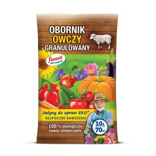 Obornik owczy granulowany - 100% ekologiczny - Florovit - 10 litrów