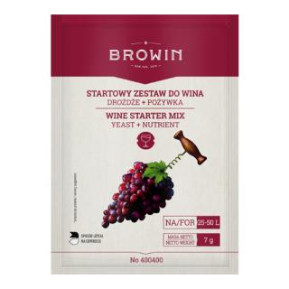 Zestaw startowy do wina - drożdże + pożywka - do 50 litrów!