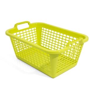 Kosz prostokątny na pranie - 50 x 35 cm - zielony