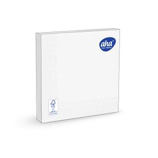 Serwetki papierowe - 33 x 33 cm - AHA - 100 szt. + 20 szt. GRATIS - białe