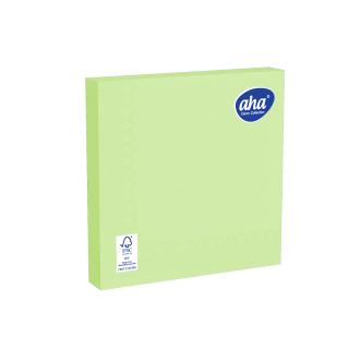 Serwetki papierowe - 33 x 33 cm - AHA - 100 szt. + 20 szt. GRATIS - pistacjowe