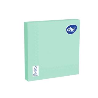 Serwetki papierowe - 33 x 33 cm - AHA - 100 szt. + 20 szt. GRATIS - seledynowe