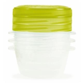 Zestaw 3 zakręcanych pojemników na żywność - Take Away Twist - 0,5 litra - zielony