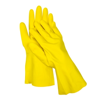 Rękawice gumowe flokowane - rozmiar 9,5