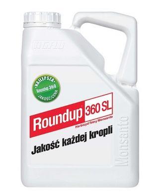 Roundup 360SL - środek chwastobójczy w koncentracie - 5 litrów