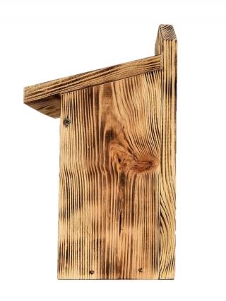 Budka lęgowa dla ptaków do montowania na ścianach i murach - sikorek, mazurków i muchołówek - opalana