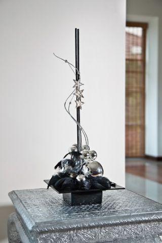 Ikebana kwadratowa - naczynie do kompozycji florystycznych - 19 cm - kolor biały