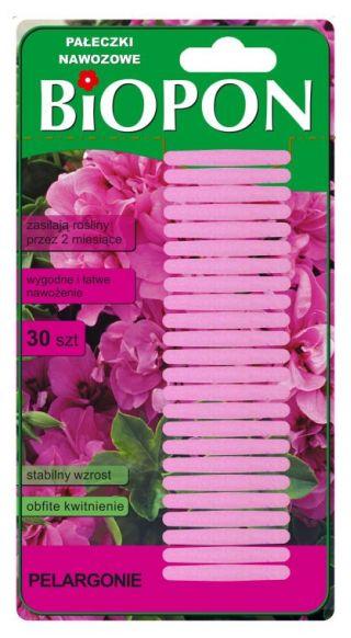 Pałeczki nawozowe do pelargonii - harmonijny wzrost i bujne kwitnienie - 30 szt.