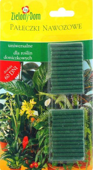 Uniwersalne pałeczki nawozowe do roślin doniczkowych - Zielony Dom - 30 sztuk